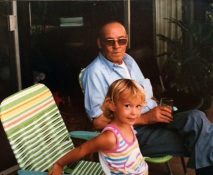 Chillin' with grandpa.