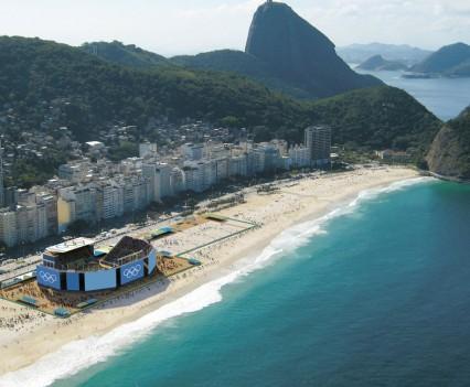The stadium on Copacabana where we'll play!