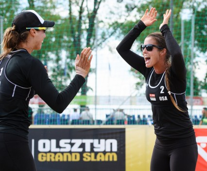 Brooke and me at the Grand Slam in Olsztyn, Poland.